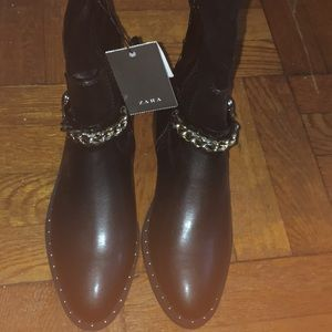 Zara black studded over the knee boots